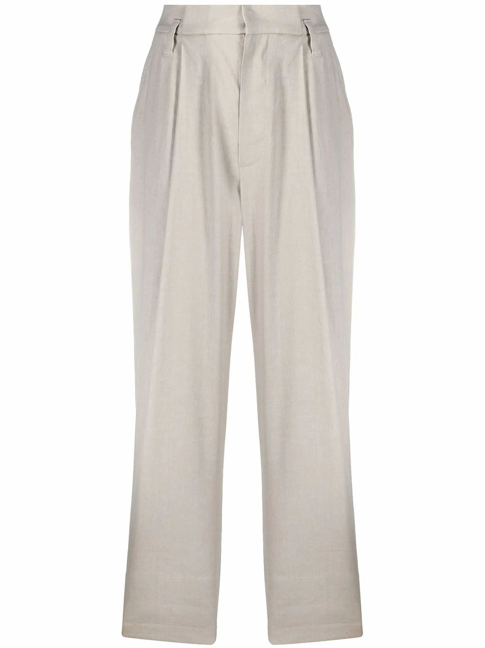 Brunello Cucinelli BRUNELLO CUCINELLI WOMEN'S GREY LINEN PANTS