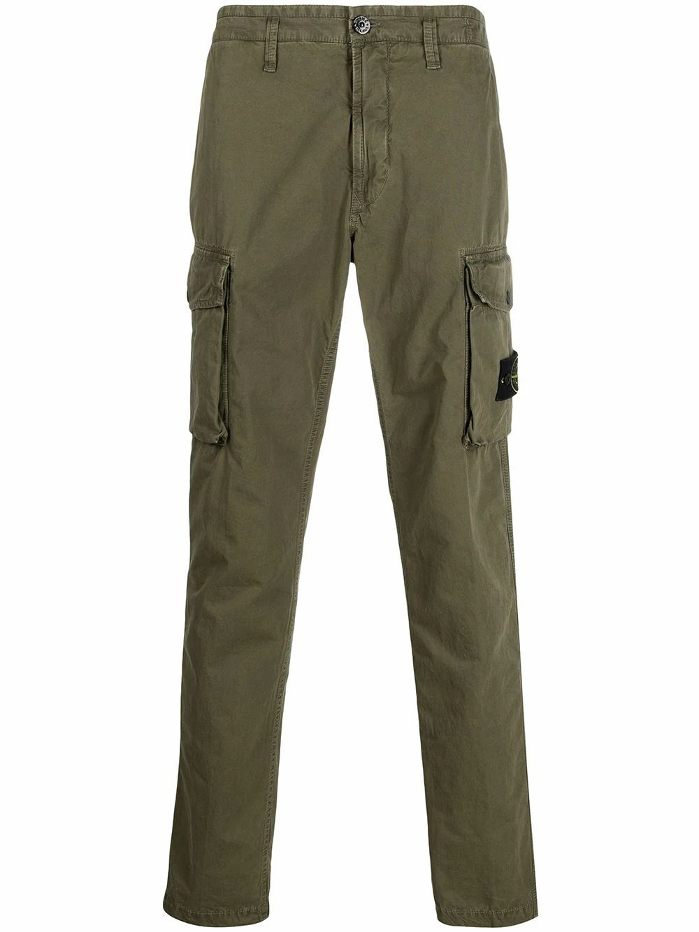 Stone Island Pants STONE ISLAND MEN'S GREEN COTTON PANTS