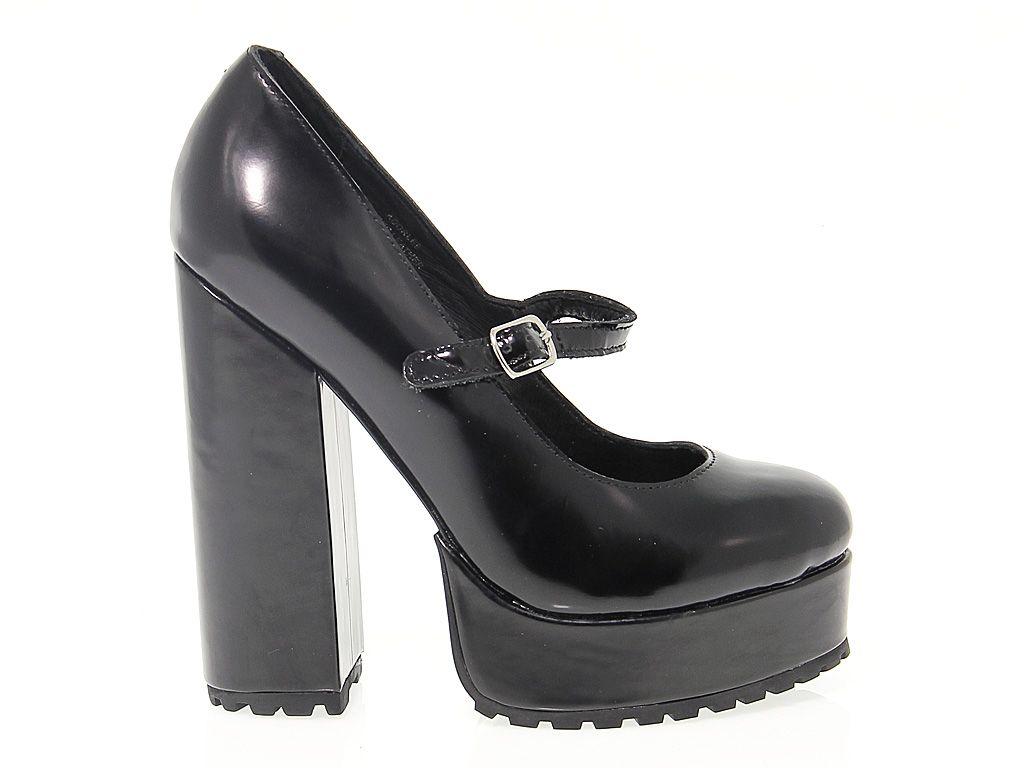 Jeffrey Campbell Black Leather Heels