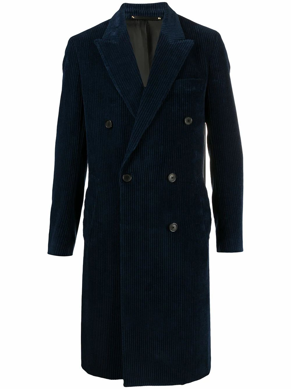 Paul Smith PAUL SMITH MEN'S BLUE COTTON COAT