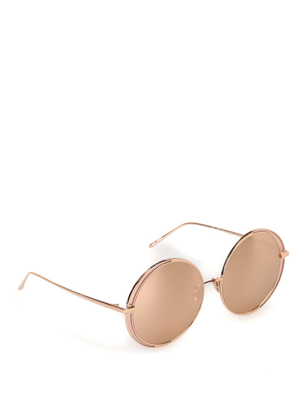 Linda Farrow Brown Acetate Sunglasses