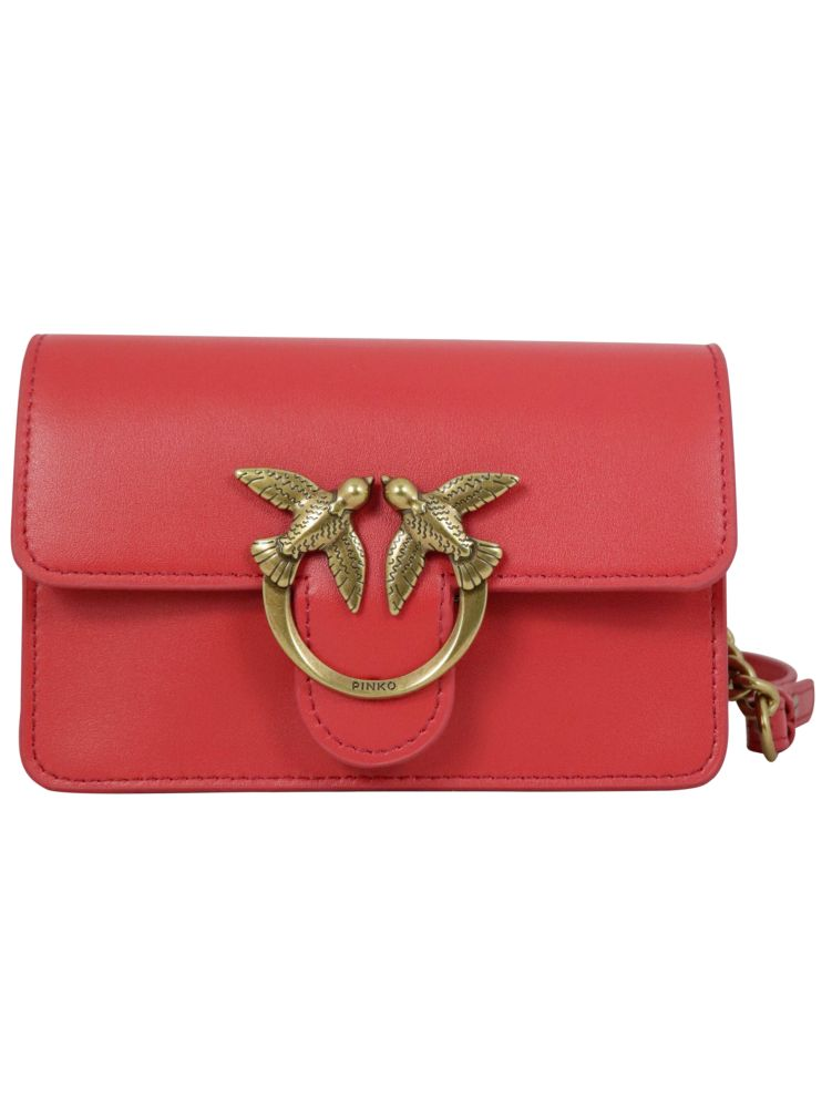 Pinko Leathers PINKO WOMEN'S RED OTHER MATERIALS BELT BAG
