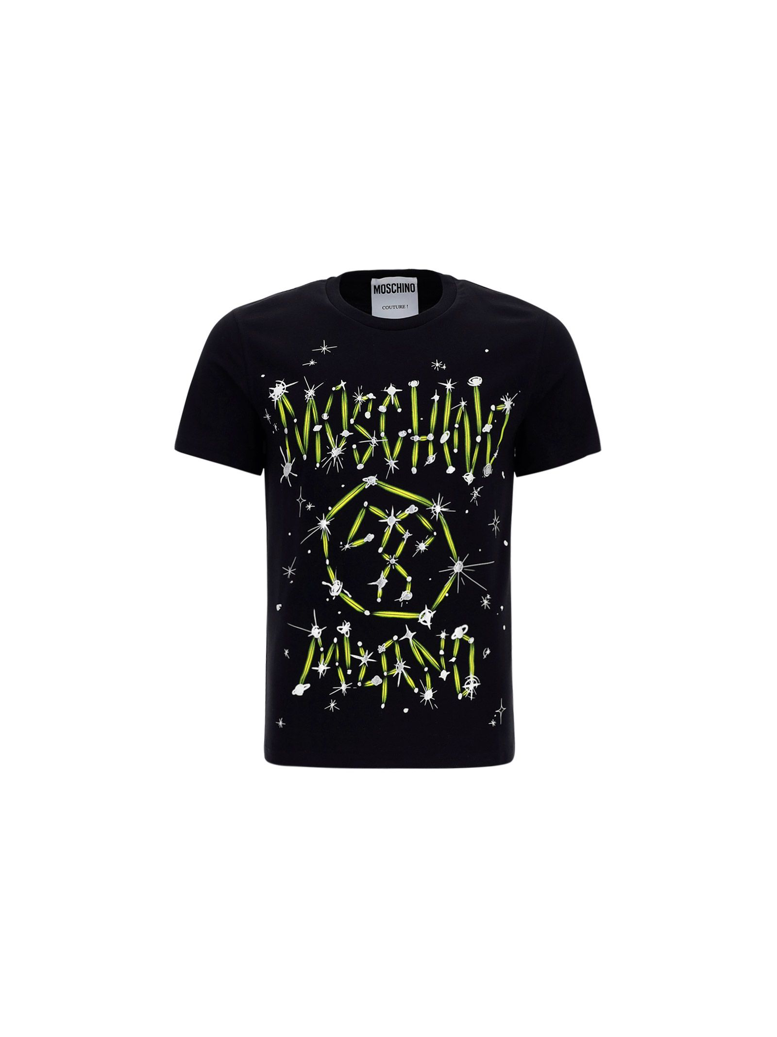 Moschino Cottons MOSCHINO MEN'S BLACK OTHER MATERIALS T-SHIRT
