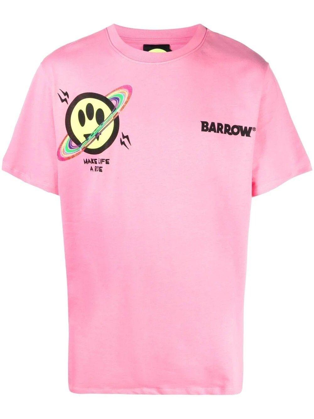 Barrow Cottons BARROW MEN'S PINK COTTON T-SHIRT