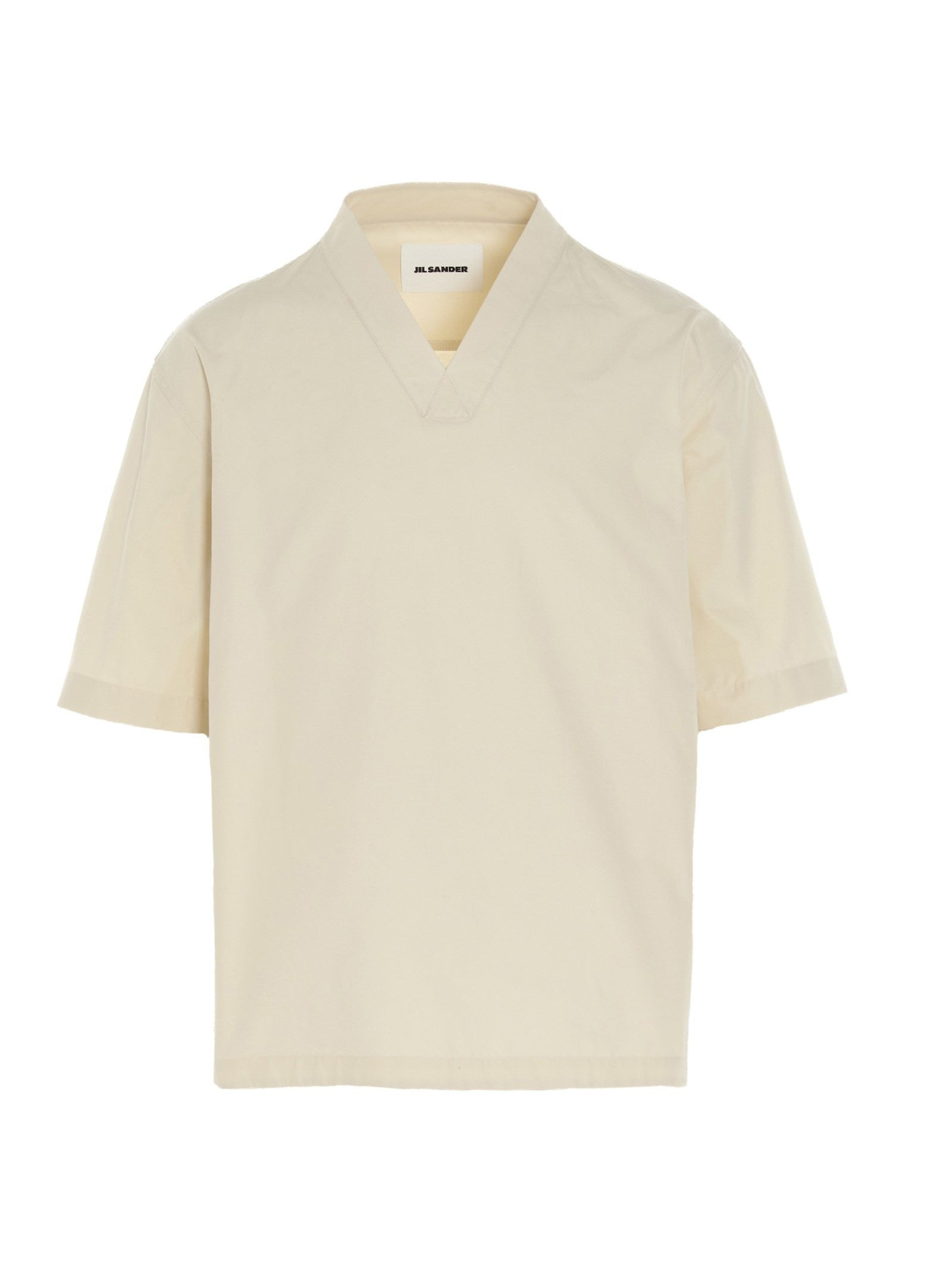 Jil Sander Cottons JIL SANDER MEN'S BEIGE OTHER MATERIALS SHIRT