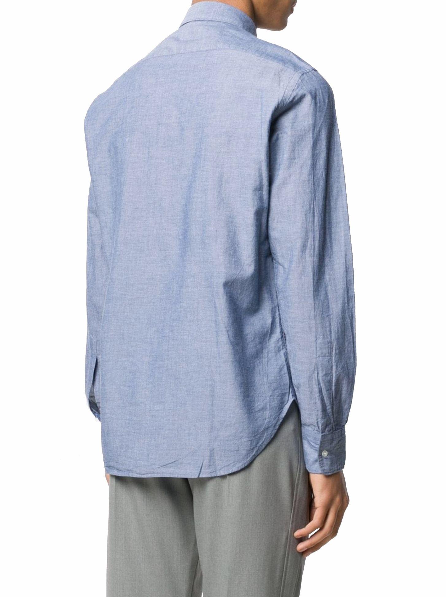 ASPESI Cottons ASPESI MEN'S BLUE COTTON SHIRT