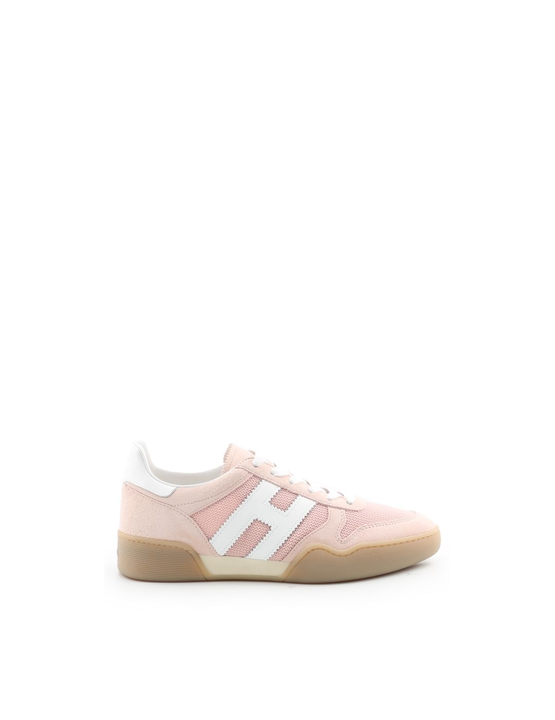 Hogan Women's Shoes Suede Trainers Sneakers H357 In Pink