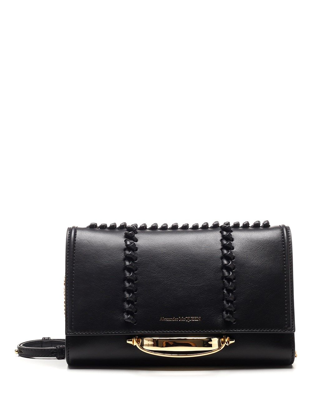 Alexander Mcqueen ALEXANDER MCQUEEN WOMEN'S BLACK OTHER MATERIALS SHOULDER BAG