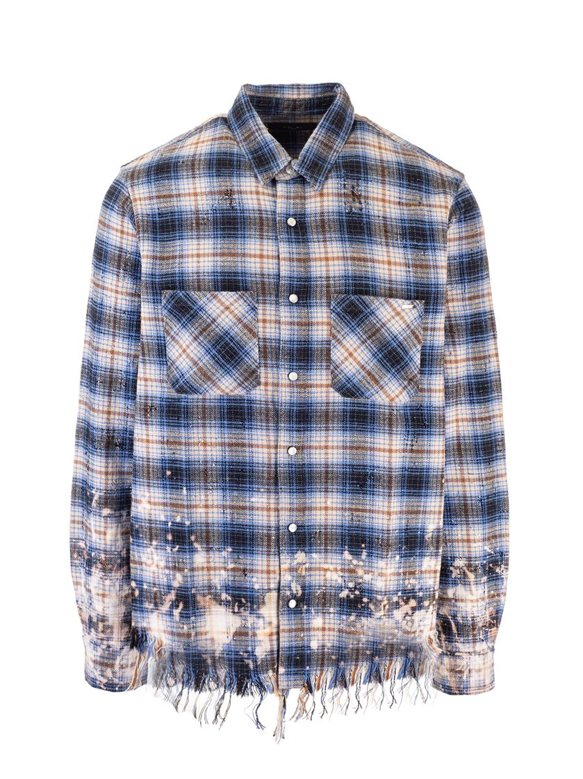 Amiri AMIRI MEN'S BLUE COTTON SHIRT