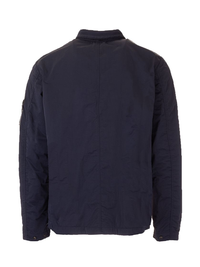 STONE ISLAND Jackets STONE ISLAND MEN'S BLUE OTHER MATERIALS OUTERWEAR JACKET