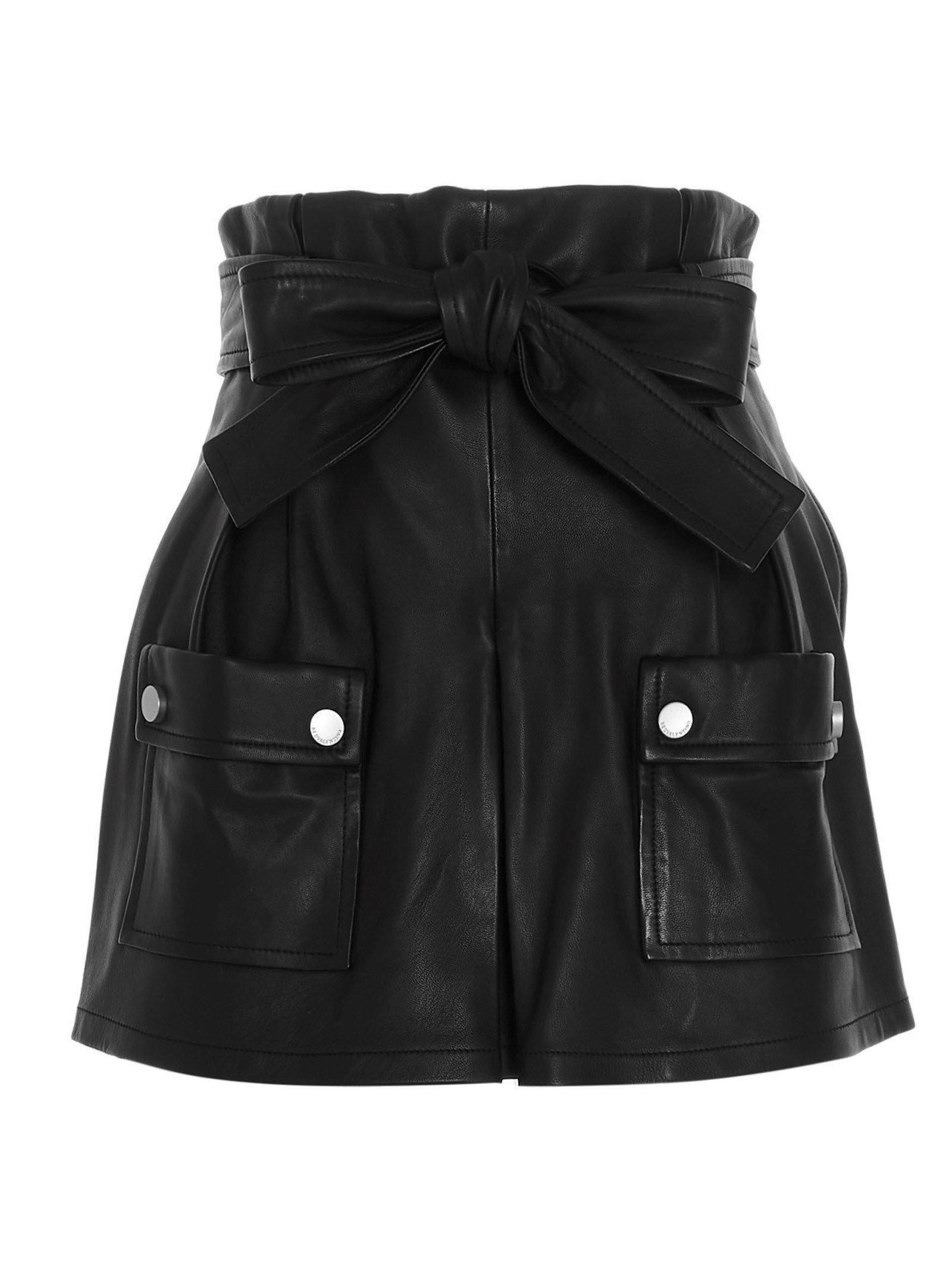 Red Valentino Leathers RED VALENTINO WOMEN'S BLACK LEATHER SHORTS