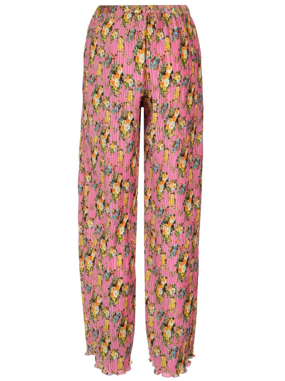 MSGM Pants MSGM WOMEN'S PINK OTHER MATERIALS PANTS