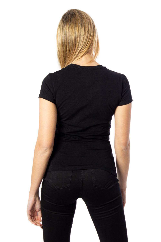 ARMANI EXCHANGE Cottons ARMANI EXCHANGE WOMEN'S BLACK COTTON T-SHIRT