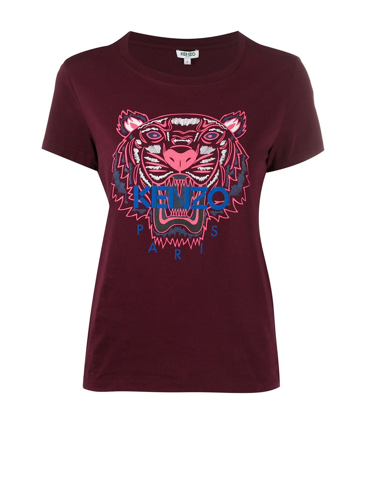 Kenzo Burgundy Cotton T-Shirt