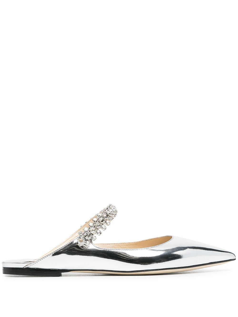 Jimmy Choo Crystals JIMMY CHOO WOMEN'S SILVER LEATHER SANDALS