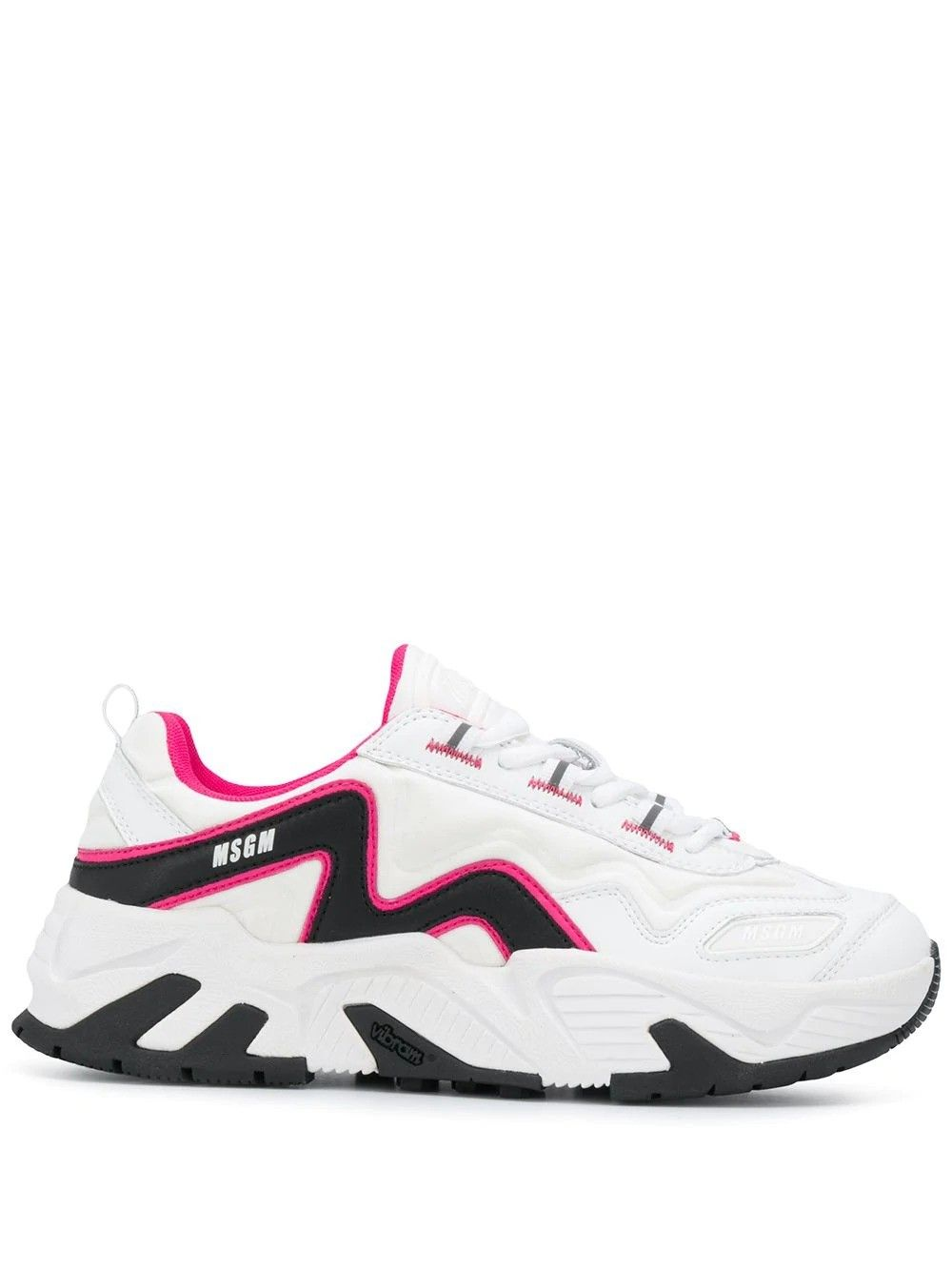 Msgm MSGM WOMEN'S WHITE LEATHER SNEAKERS