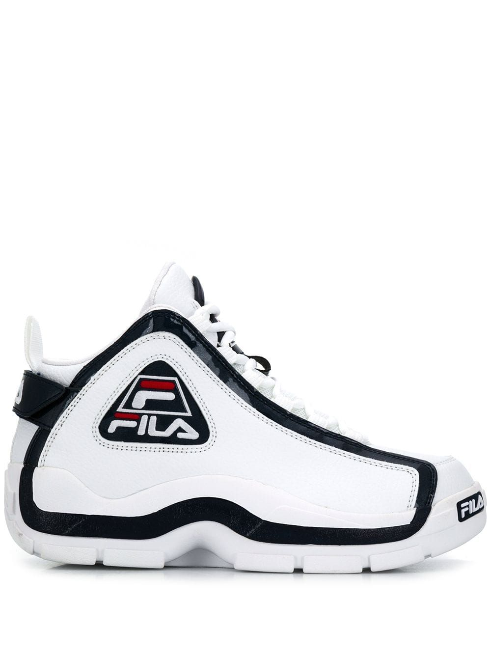 Fila White Leather Hi Top Sneakers