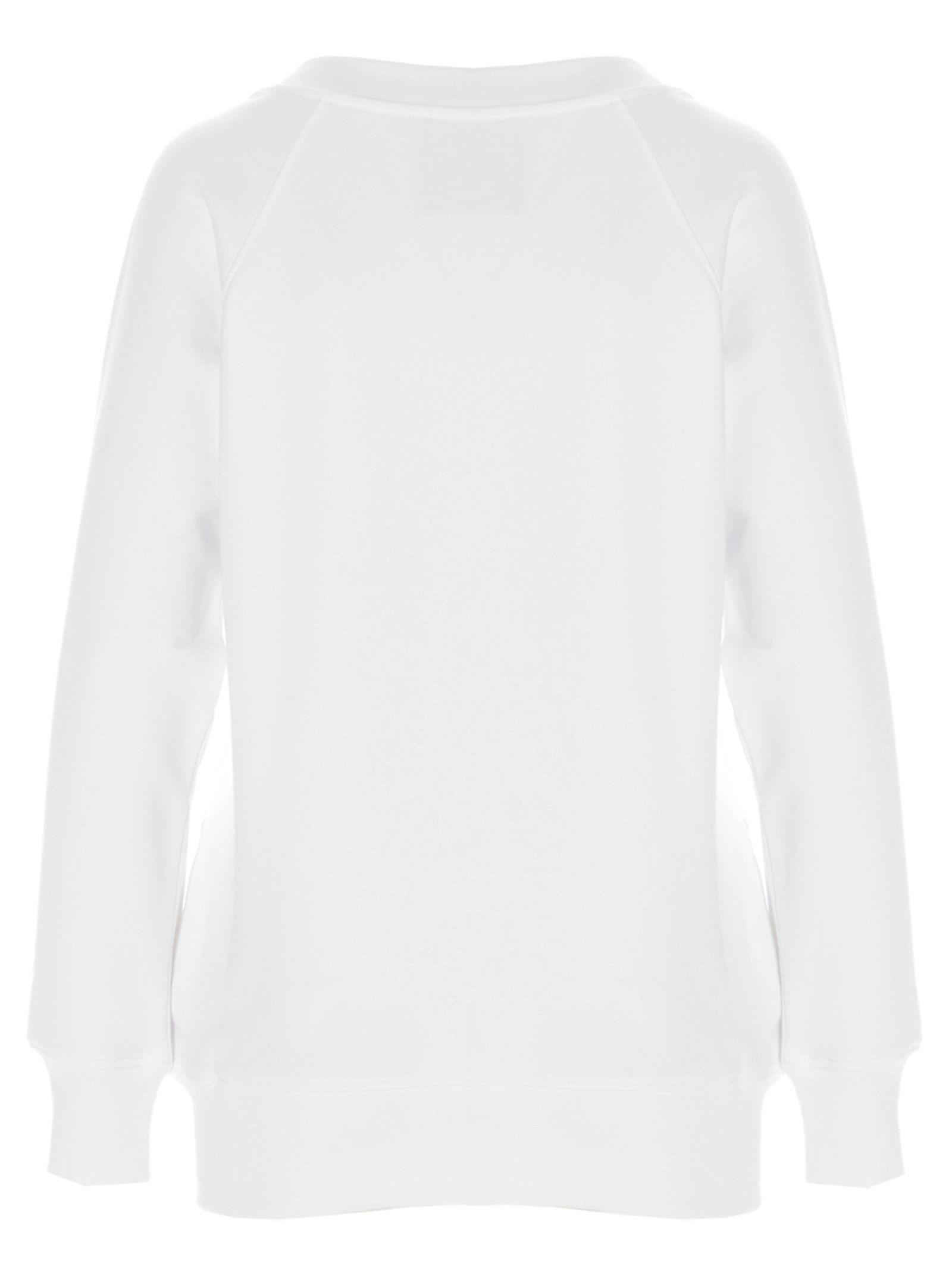 MOSCHINO Cottons MOSCHINO WOMEN'S WHITE OTHER MATERIALS SWEATSHIRT