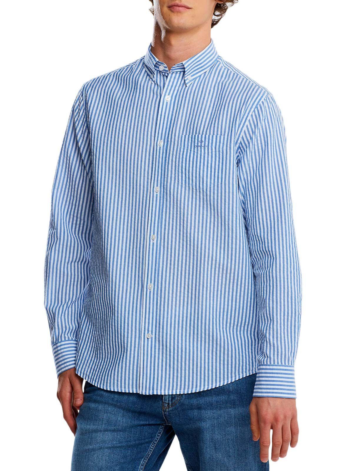 Gant Cottons GANT MEN'S LIGHT BLUE COTTON SHIRT