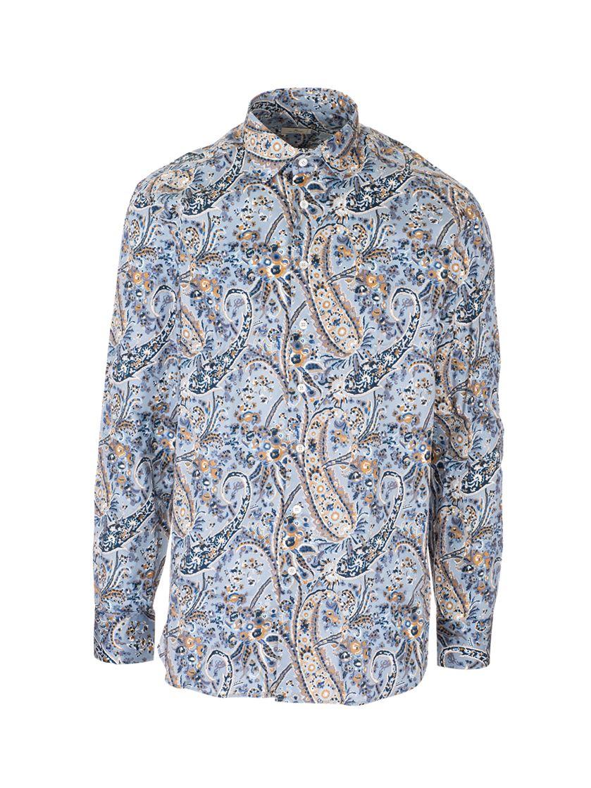Etro Shirts ETRO MEN'S LIGHT BLUE OTHER MATERIALS SHIRT