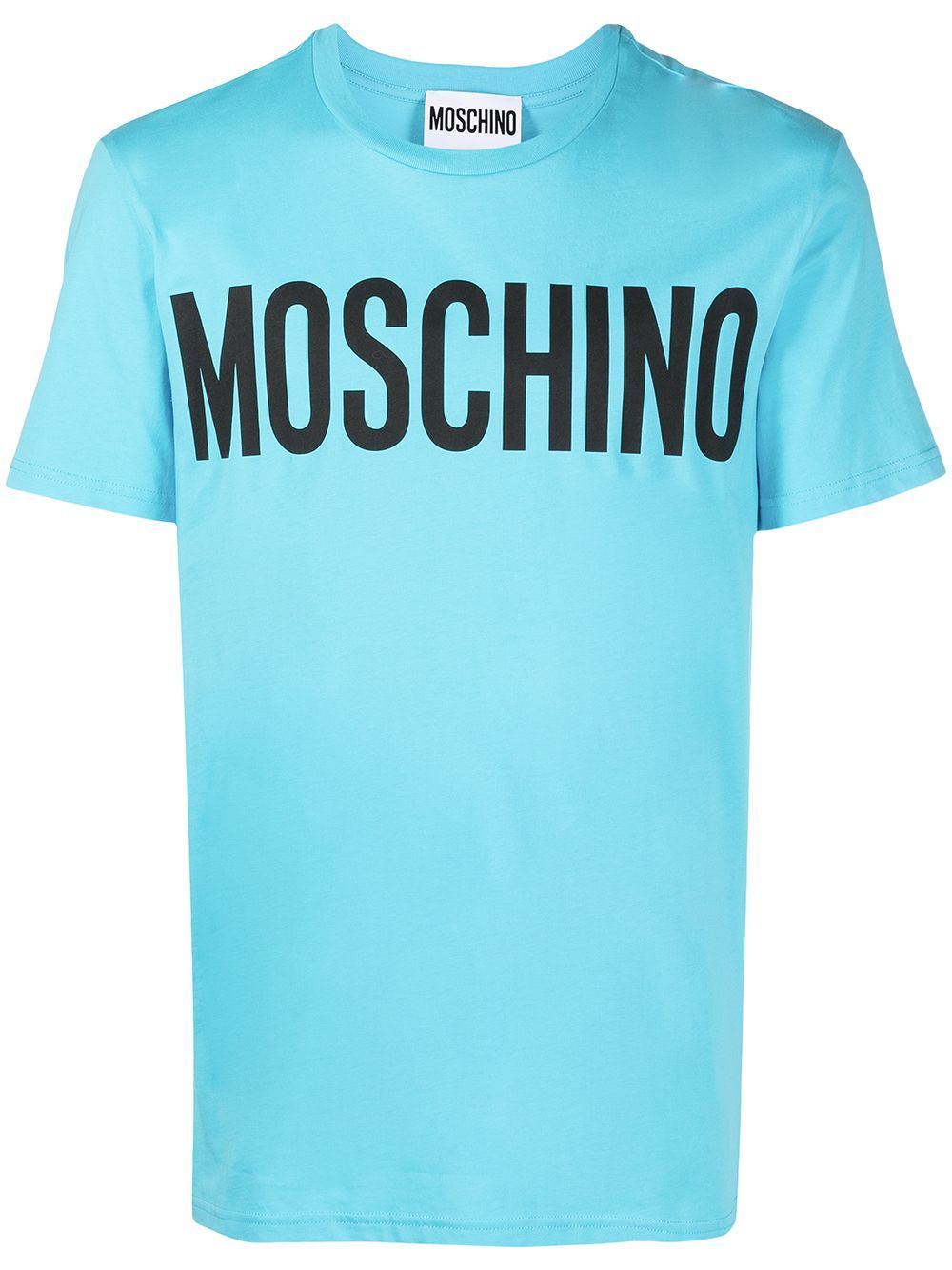 Moschino Cottons MOSCHINO MEN'S LIGHT BLUE COTTON T-SHIRT