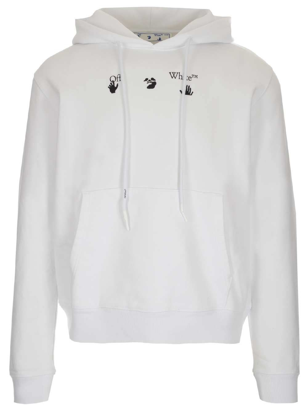 Off-White OFF-WHITE MEN'S WHITE OTHER MATERIALS SWEATSHIRT