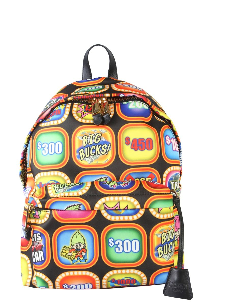 Moschino Multicolor Polyester Backpack