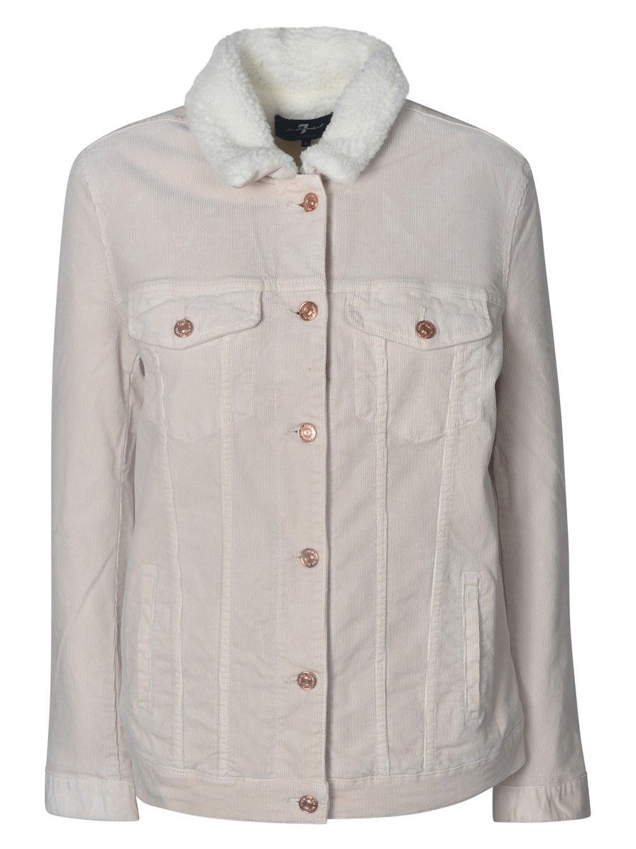 7 For All Mankind White Cotton Jacket