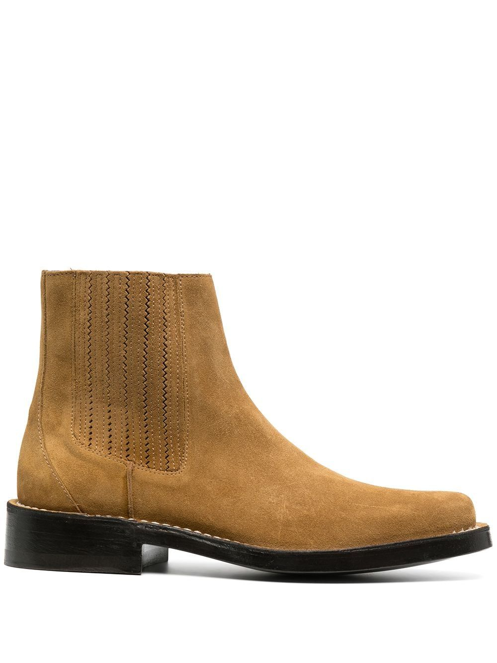 KENZO KENZO MEN'S BROWN LEATHER ANKLE BOOTS