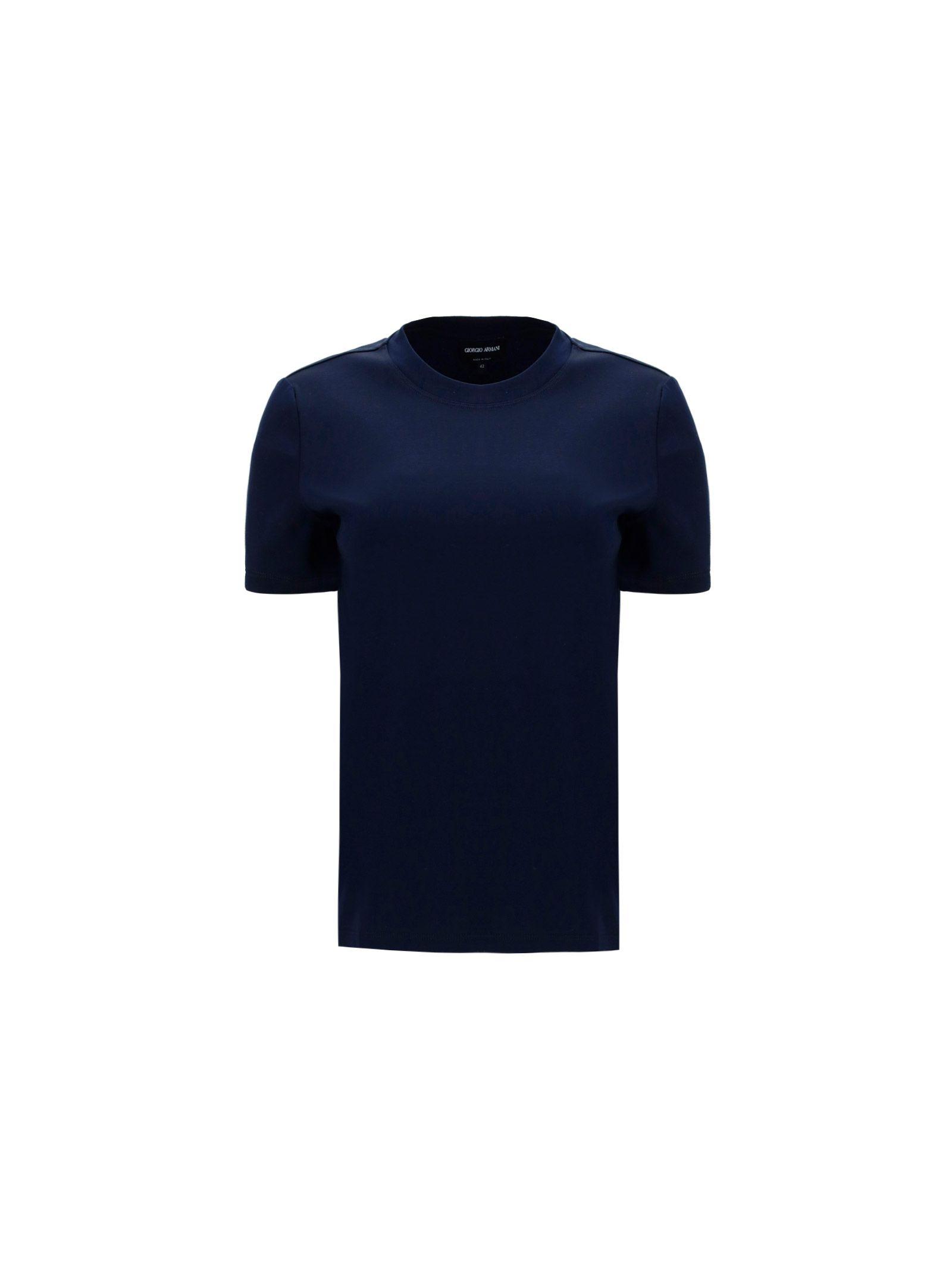 Giorgio Armani T-shirts GIORGIO ARMANI WOMEN'S BLUE OTHER MATERIALS T-SHIRT