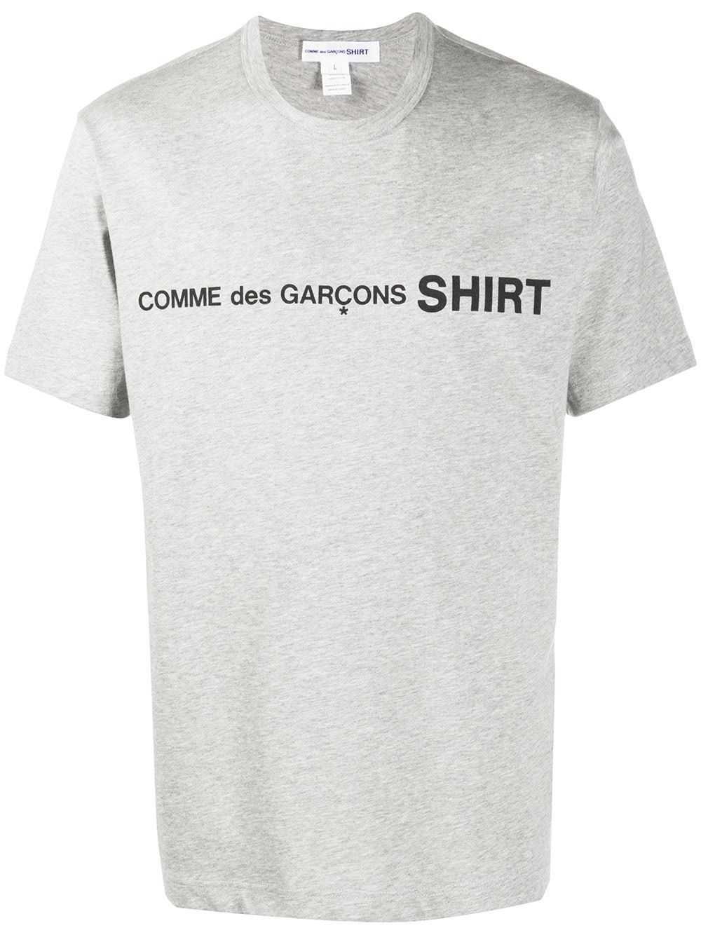 Comme Des Garçons Shirt COMME DES GARÇONS SHIRT MEN'S GREY COTTON T-SHIRT