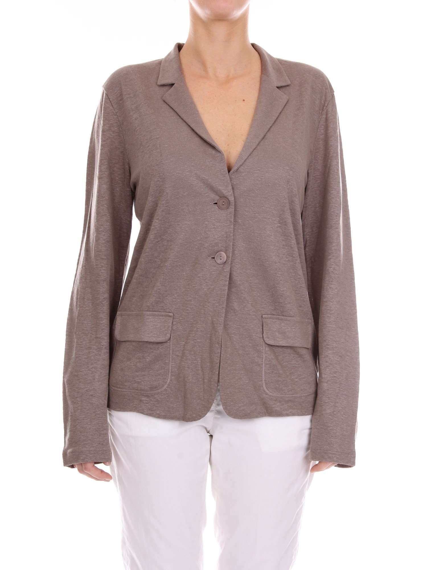 competitive price a3b65 3f370 Cruciani Women's Cd19724Brown Grey Linen Blazer | ModeSens