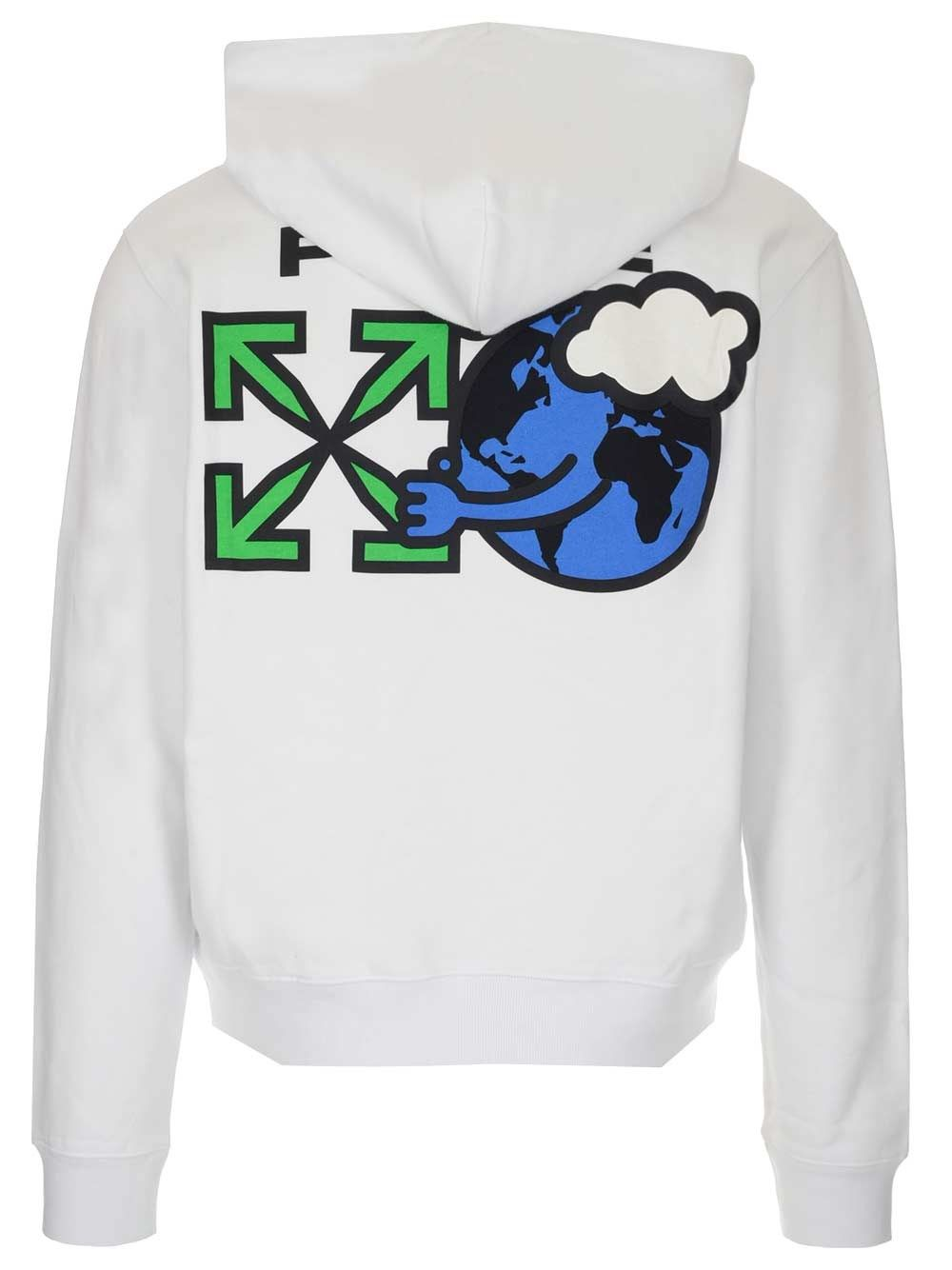 OFF-WHITE Cottons OFF-WHITE MEN'S WHITE OTHER MATERIALS SWEATSHIRT