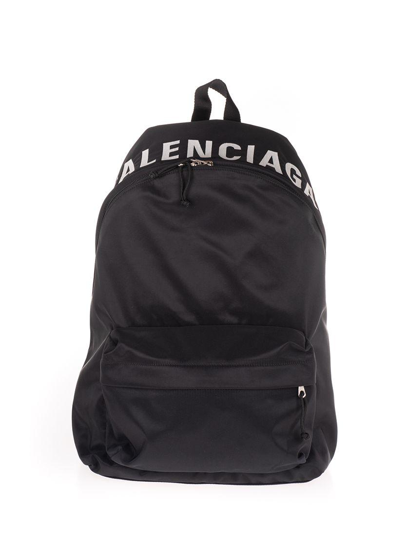 Balenciaga Backpacks BALENCIAGA MEN'S BLACK NYLON BACKPACK