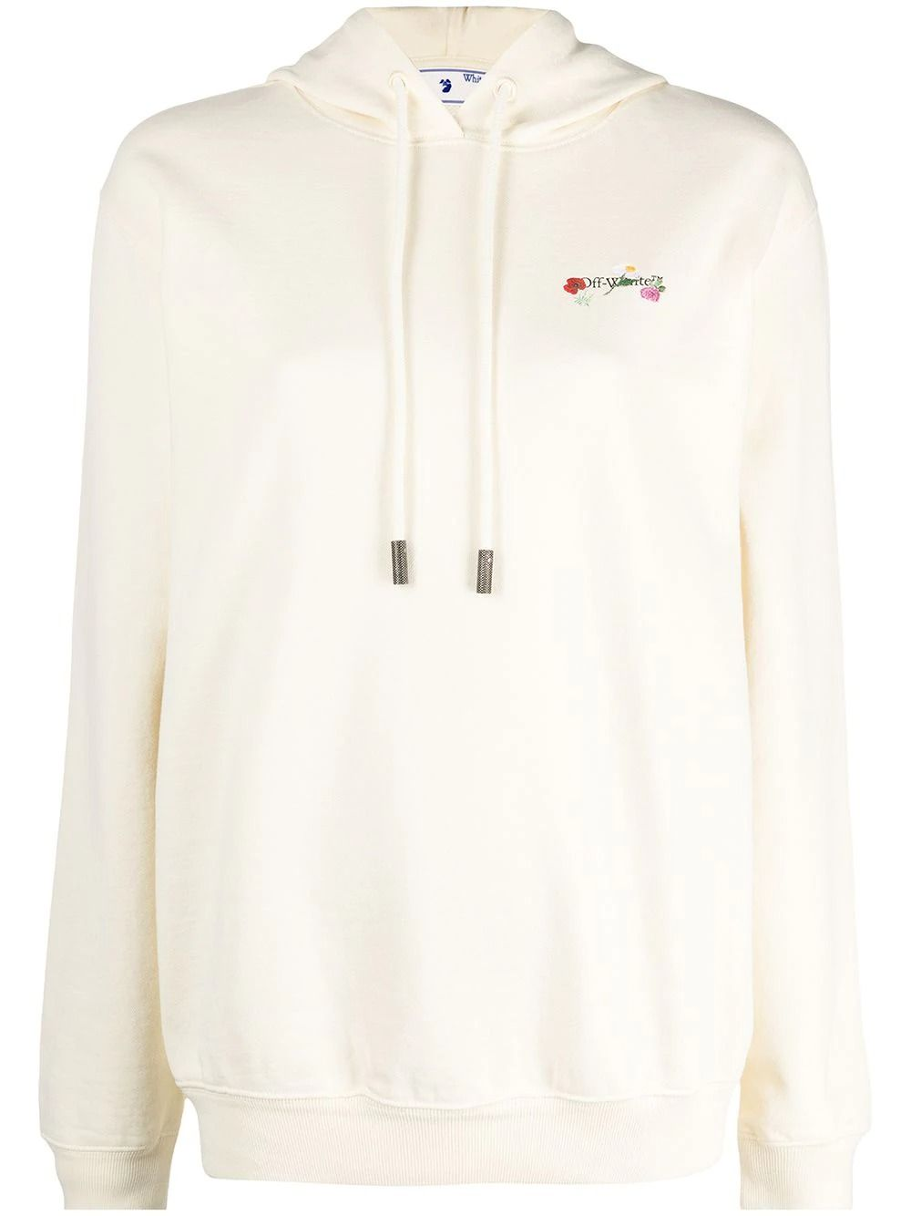 OFF-WHITE Sweatshirts OFF-WHITE WOMEN'S BEIGE COTTON SWEATSHIRT