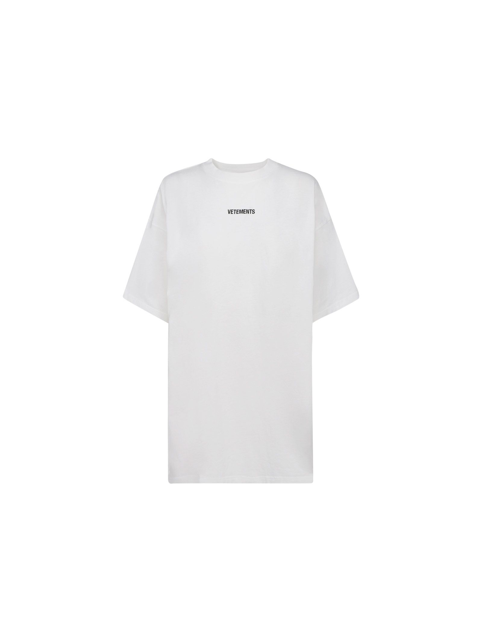 VETEMENTS VETEMENTS WOMEN'S WHITE COTTON T-SHIRT