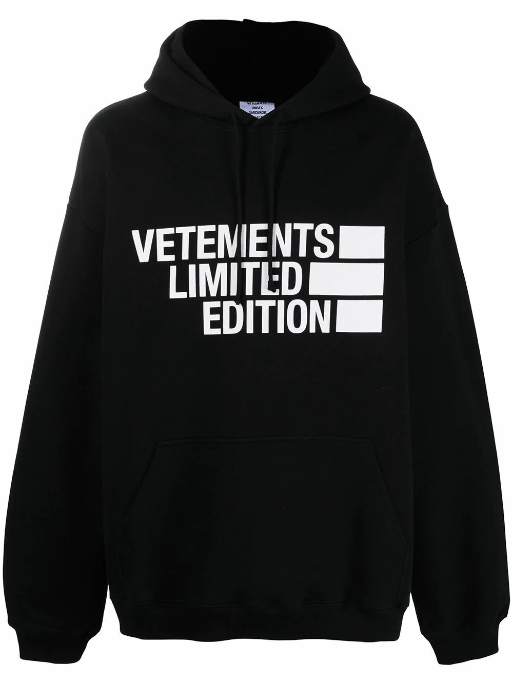Vetements VETEMENTS MEN'S BLACK COTTON SWEATSHIRT