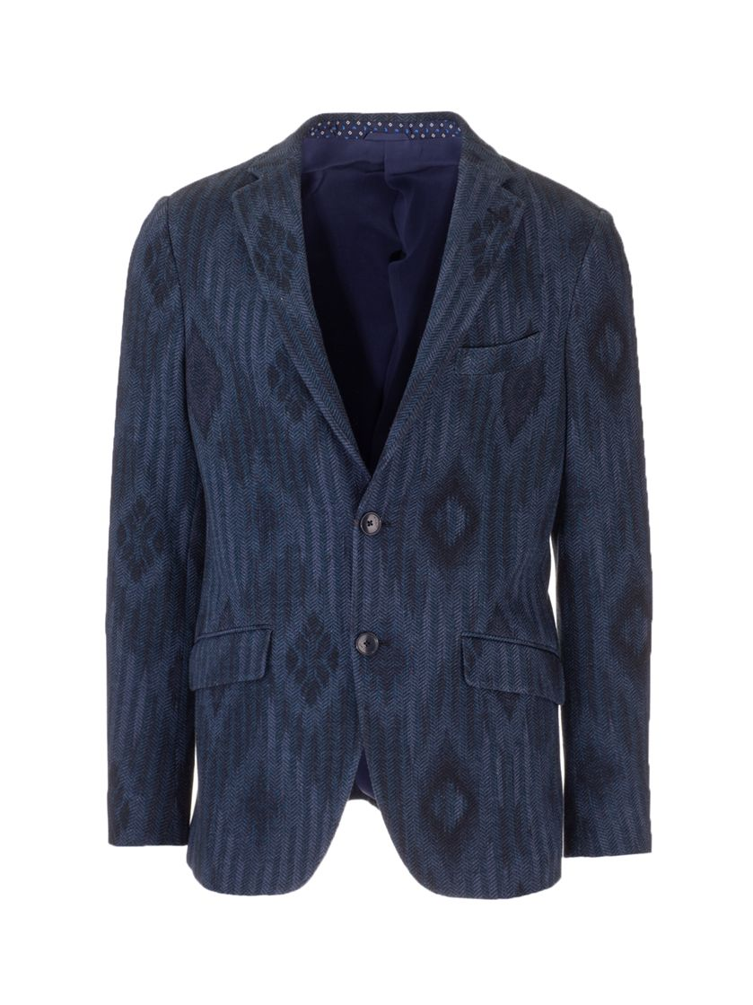 Etro ETRO MEN'S BLUE OTHER MATERIALS BLAZER
