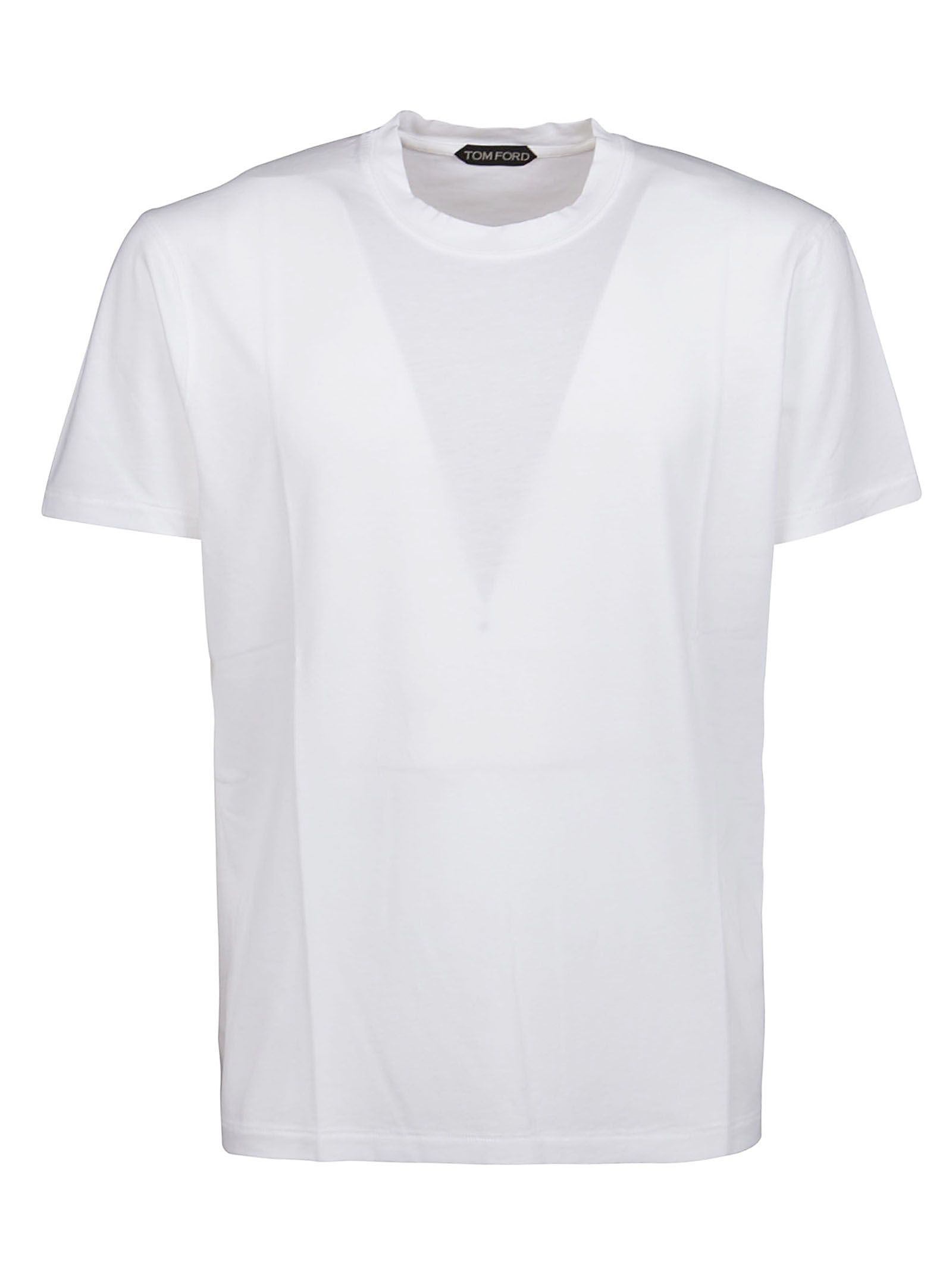 Tom Ford TOM FORD MEN'S WHITE OTHER MATERIALS T-SHIRT