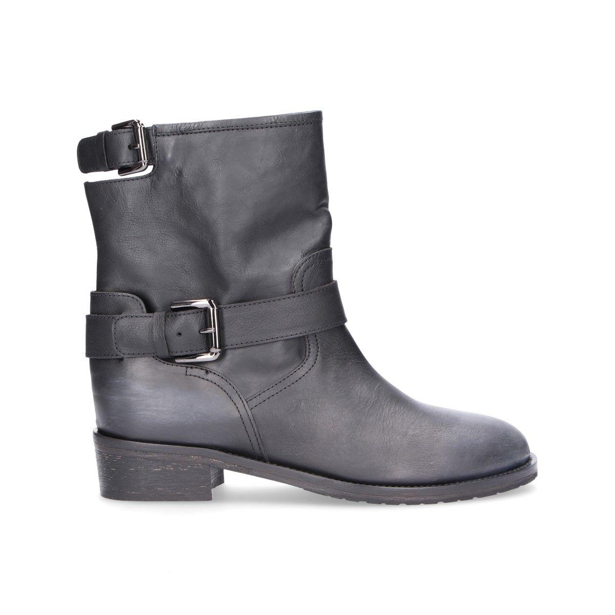 721577a93f Via Roma 15 Women's V2775Black Black Leather Ankle Boots | ModeSens