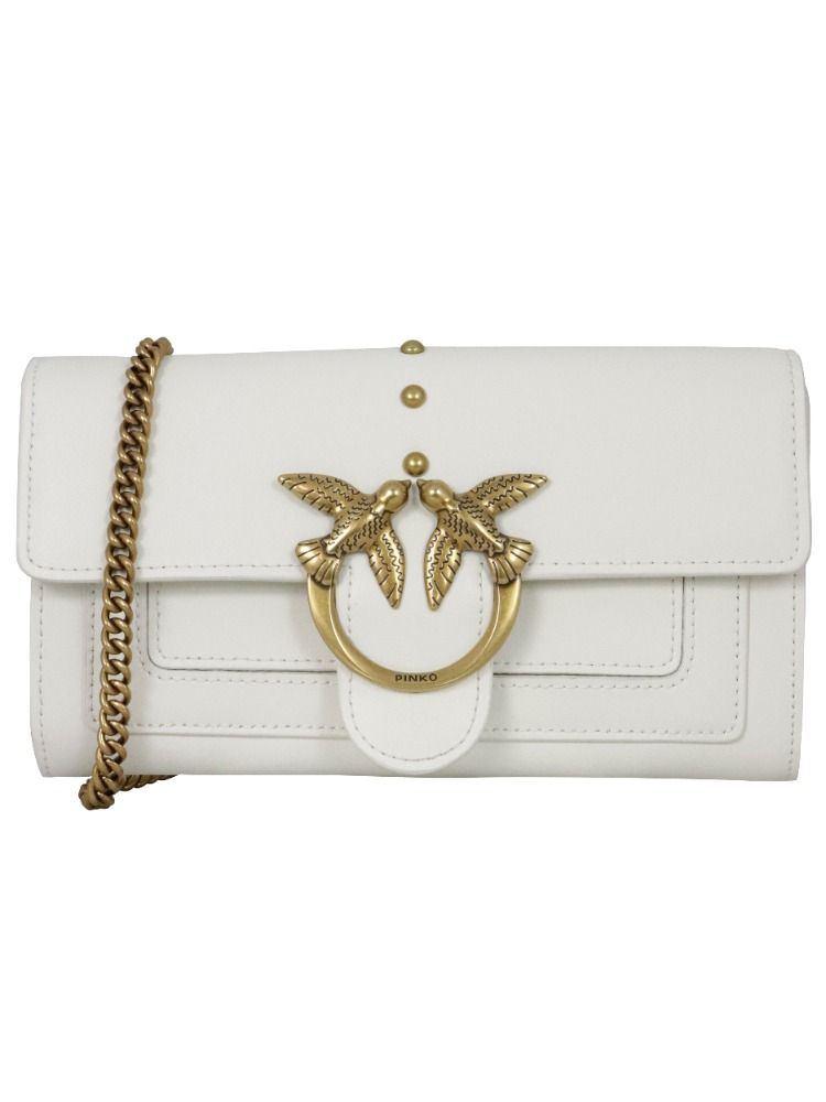 Pinko Wallets PINKO WOMEN'S WHITE LEATHER WALLET