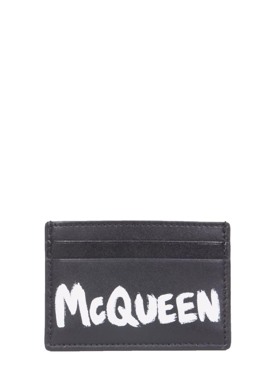 Alexander Mcqueen Women's Black Leather Card Holder