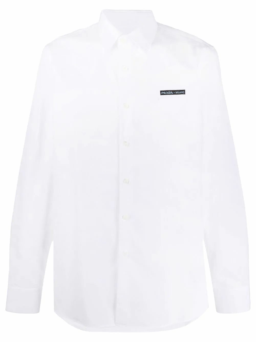 Prada Cottons PRADA MEN'S WHITE COTTON SHIRT