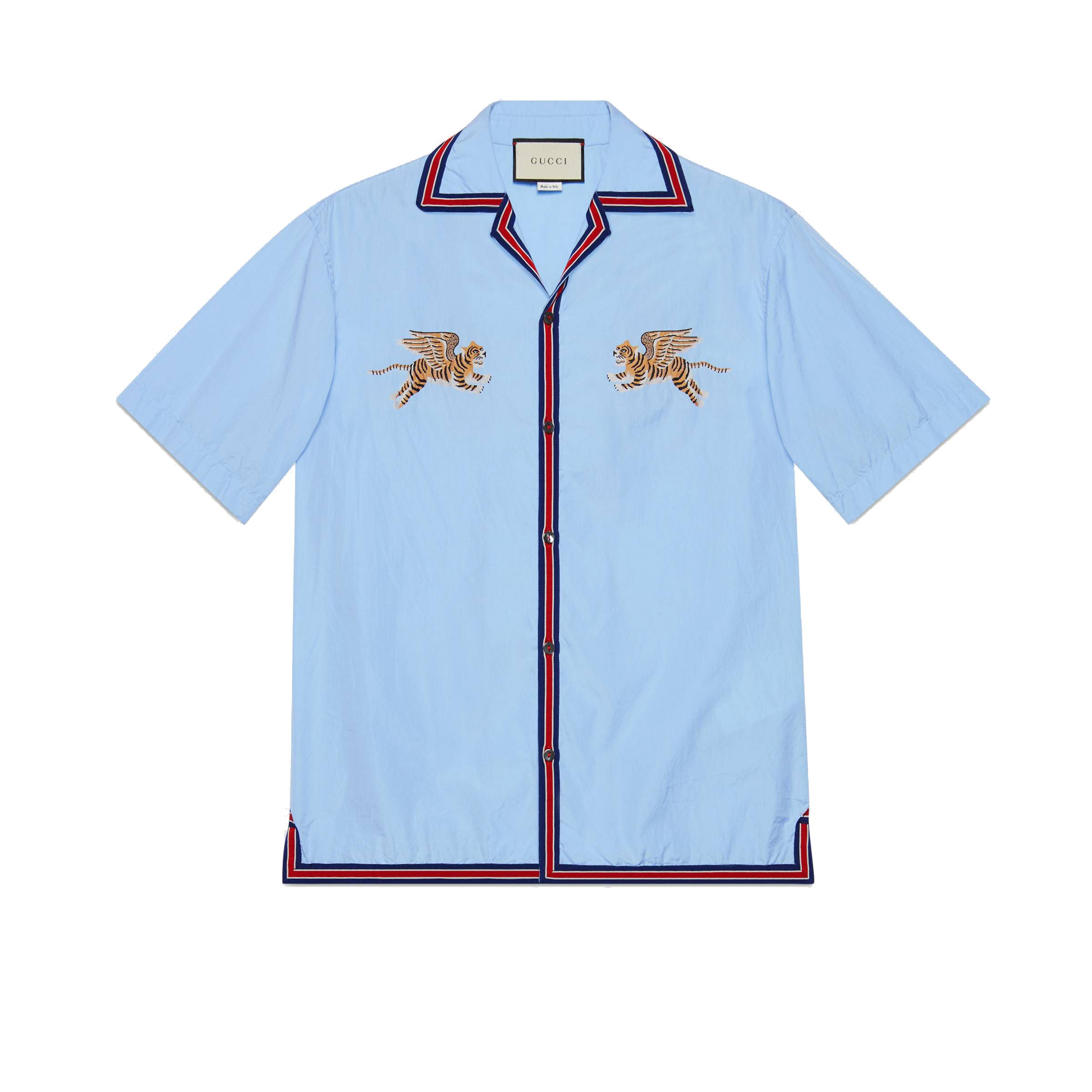 Gucci Light Blue Cotton Shirt