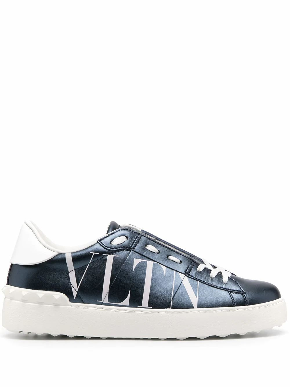 VALENTINO VALENTINO GARAVANI WOMEN'S BLUE LEATHER SNEAKERS