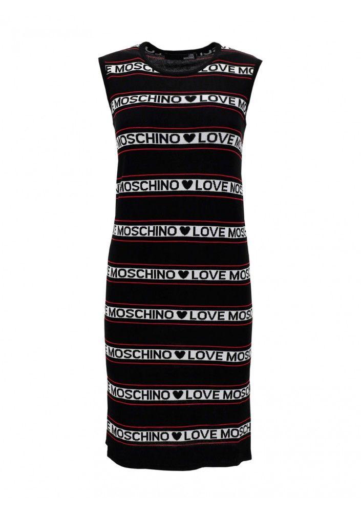 Love Moschino LOVE MOSCHINO WOMEN'S BLACK OTHER MATERIALS DRESS