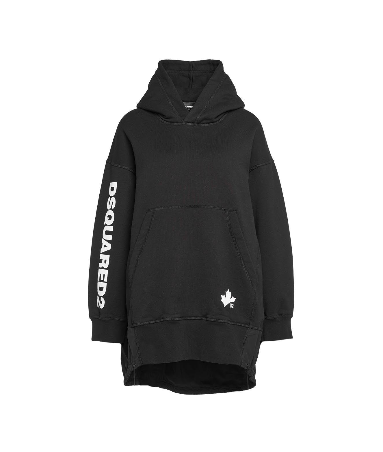 Dsquared2 Sweatshirts DSQUARED2 WOMEN'S BLACK OTHER MATERIALS SWEATSHIRT