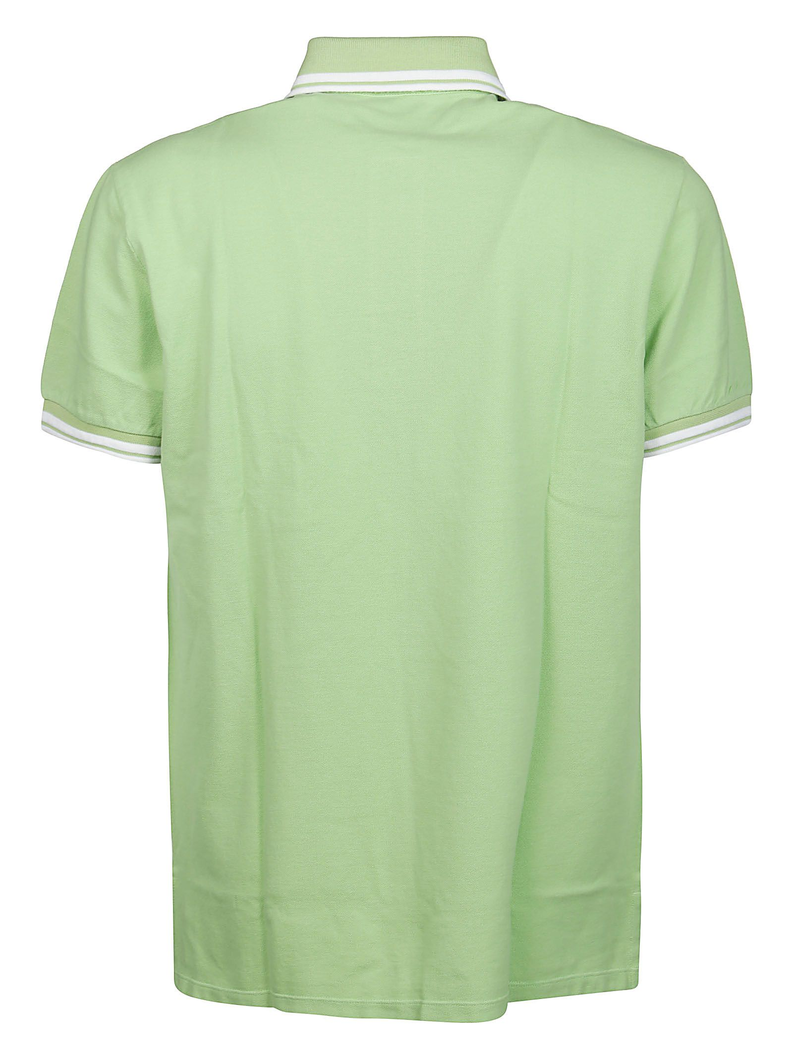 ETRO Cottons ETRO MEN'S GREEN OTHER MATERIALS POLO SHIRT