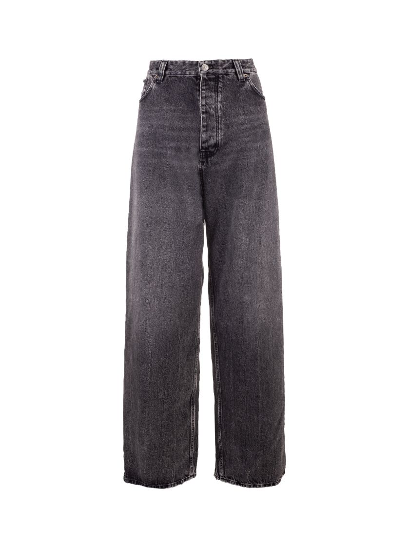 Balenciaga BALENCIAGA WOMEN'S BLACK OTHER MATERIALS JEANS