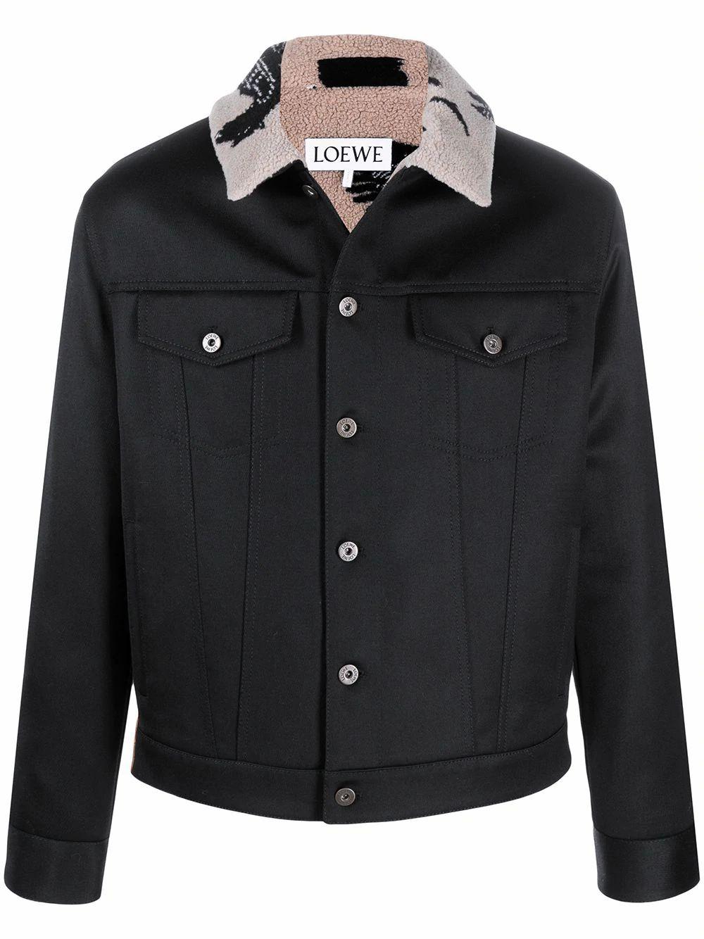 Loewe LOEWE MEN'S BLACK WOOL OUTERWEAR JACKET